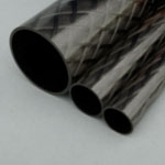50mm (OD) x 46mm (ID) Carbon Tube - 1m Length - Epoxy