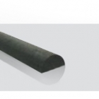 2mm Carbon Half-Round Rod - 1m Length